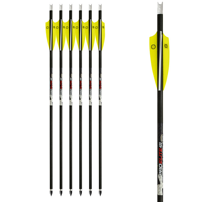 Ten Point Pro elite 400 grain arrows in 6 pack