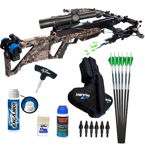 Excalibur Bulldog 440 MOBUC Shooter Package with ExShield Case, Proflight Arrows, ExSlick, Ex Wax, and much more making this a complete crossbow package for the frequent shooter.