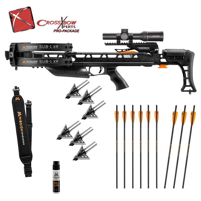 Mission Sub 1 Pro Package with Mission Sling, Lube, Extra Arrows and broadheads.