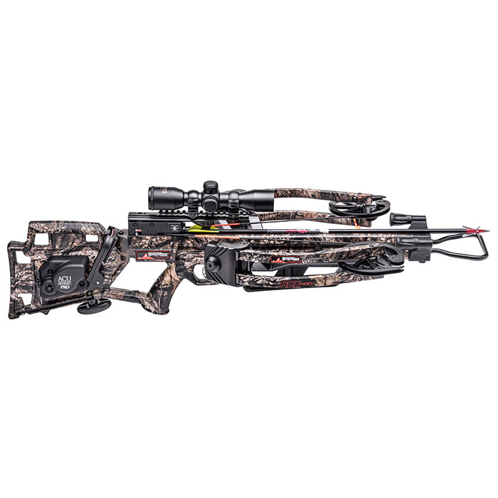 wicked ridge rdx400 crossbow side view with an acudraw crank