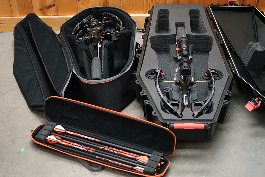 Ravin Crossbows Hard Case, Soft Case, and Arrow Case for the R29 and R26 Crossbows