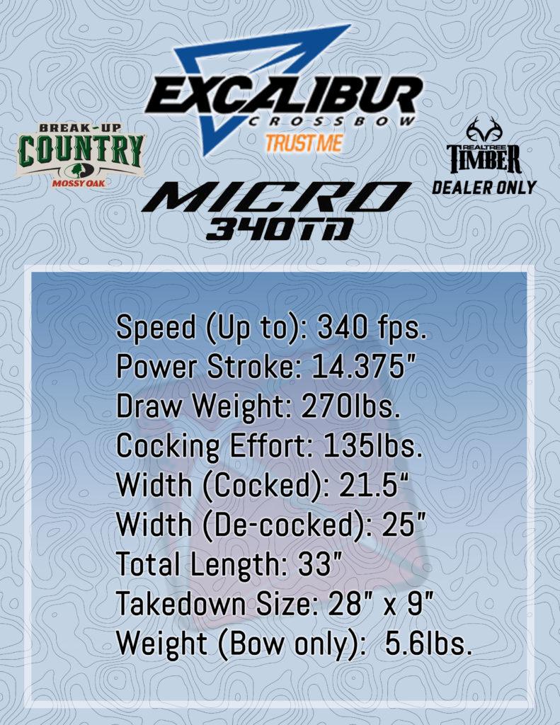 Excalibur Micro 340TD Spec Sheet Infographic