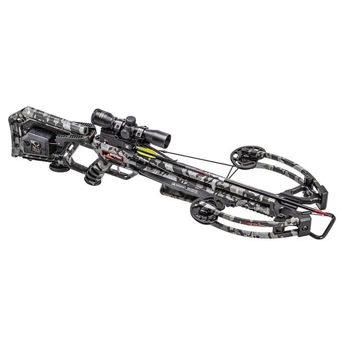 m370 crossbow with acudraw facing forward