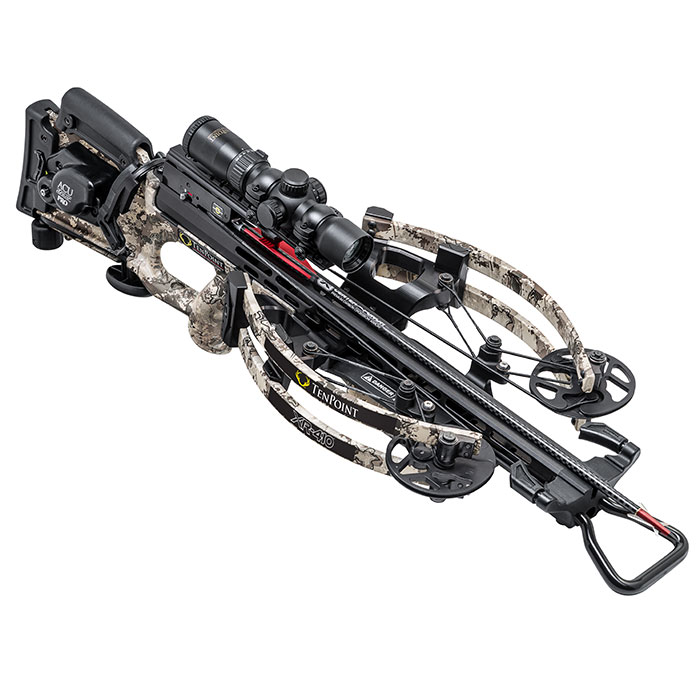 tenpoint xr410 crossbow facing forward